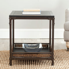 Safavieh Dinesh End Table With Storage Shelf AMH6549A