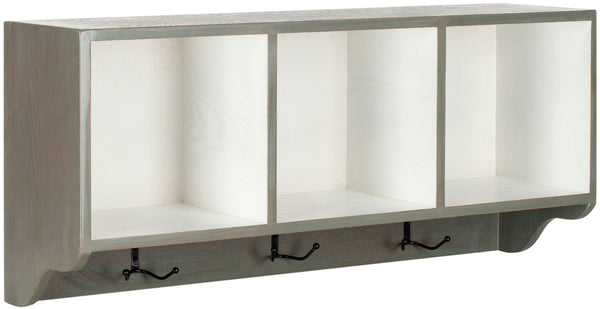 Safavieh Alice Wall Shelf With Storage Compartments AMH6566M
