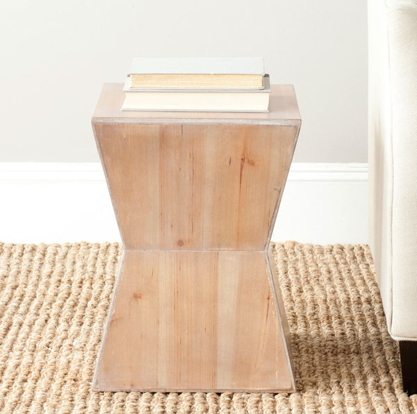 Safavieh Lotem Curved Square Top Accent Table AMH6618B
