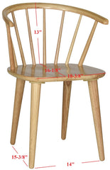 Safavieh Blanchard 18''H Curved Spindle Side Chair AMH8512D-SET2