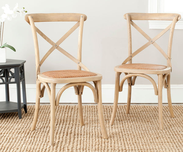 Safavieh Franklin 18''H X Back Farmhouse Chair (Set Of 2) AMH9500C-SET2