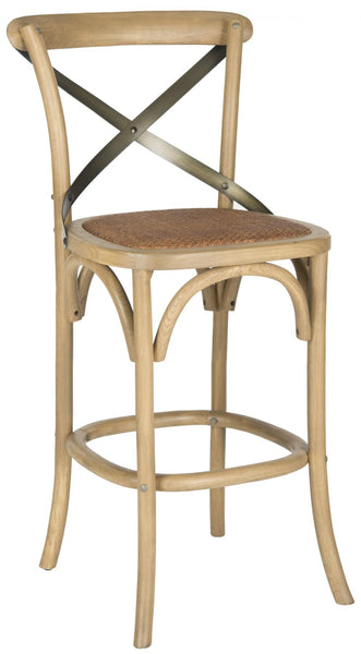 Safavieh Eleanor X Back Barstool AMH9503C