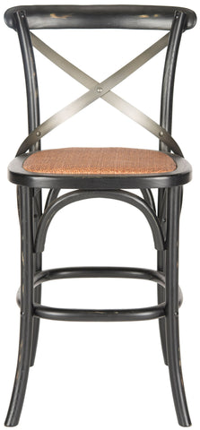 Safavieh Eleanr X Back Counter Stool AMH9505B