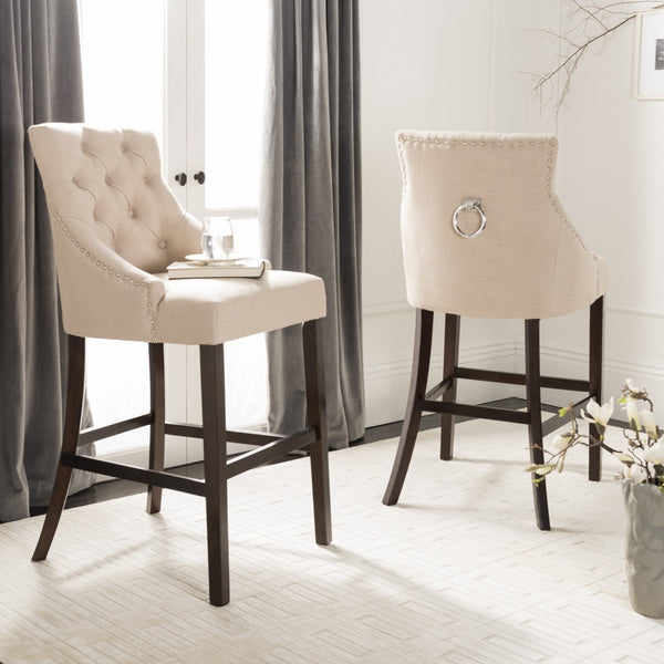 Safavieh Eleni Tufted Wing Back Bar Stool BST6304E-SET2