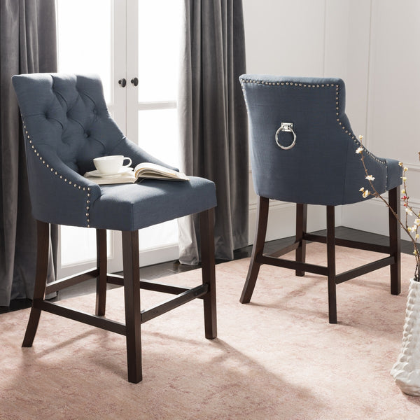 Safavieh Eleni Tufted Wing Back Counter Stool BST6305C-SET2