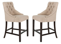 Safavieh Eleni Tufted Wing Back Counter Stool BST6305E-SET2