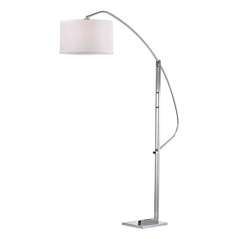 Assissi Adjustable Floor Lamp in Polished Nickel