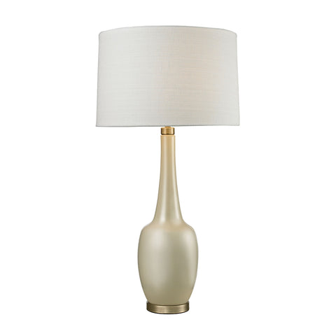 Modern Vase Ceramic Table Lamp in Cream