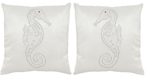 Safavieh Smooching Seahorse  Pillow -Dec464A-1818-Set2 DEC464A-1818-SET2