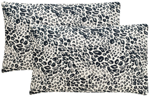 Safavieh Satin Leopard  Pillow -Dec650A-1220-Set2 DEC650A-1220-SET2
