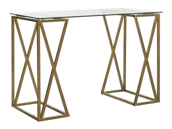 Safavieh Theresa Glass Top Desk DSK2202A