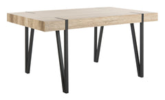 Safavieh Alyssa Rustic Midcentury Wood Top Dining Table DTB7000A