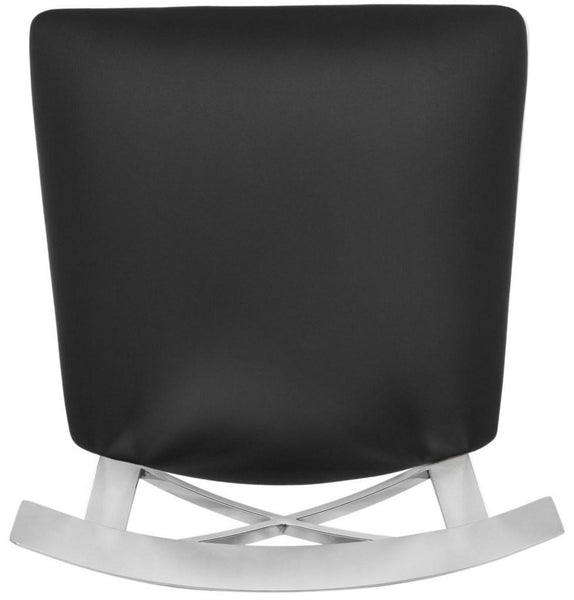 Safavieh Zoey 39''H Stainless Steel Cross Back Bar Stool FOX2034A