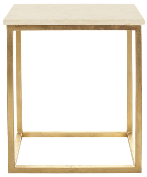 Safavieh Tad Faux Marble Gold Foil Accent Table FOX2503A