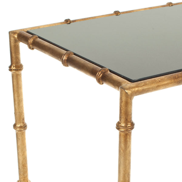 Safavieh Chandler Gold Cross Base Accent Table FOX2513A