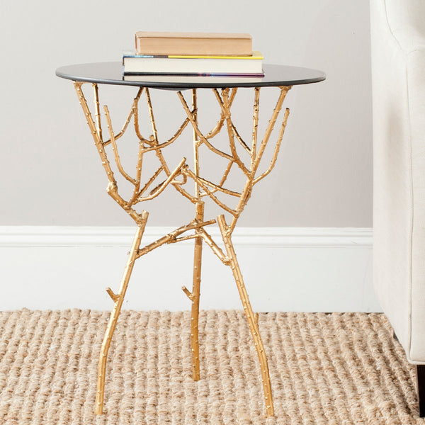 Safavieh Tara Branched Glass Top Gold Accent Table FOX2520B