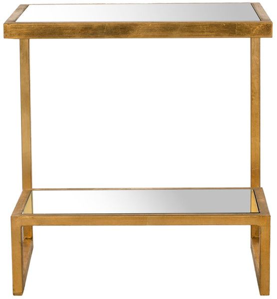 Safavieh Kennedy Mirror Top Gold  Accent Table FOX2522A