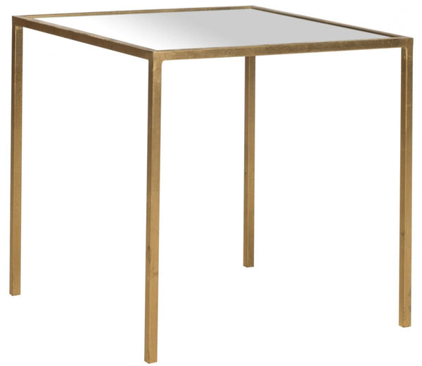 Safavieh Kiley Gold Leaf Mirror Top Accent Table FOX2525A