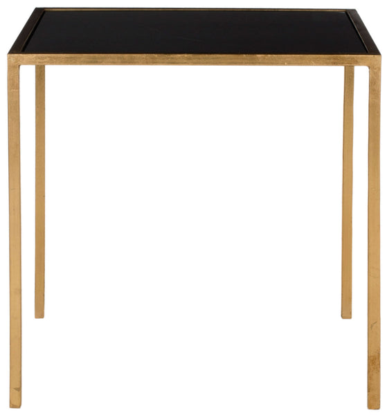 Safavieh Kiley Gold Leaf Mirror Top Accent Table FOX2525B