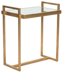 Safavieh Noland Mirror Top Gold Accent Table FOX2534A