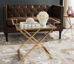 Safavieh Pierre Gold Leaf Accent Table FOX2559A