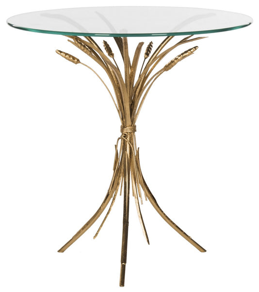 Safavieh Bessi Gold Leaf Side Table FOX2600A