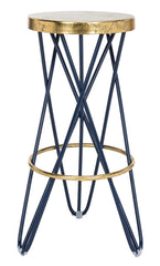 Safavieh Lorna Gold Leaf Barstool FOX3254B