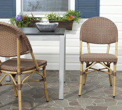 Safavieh Barrow Stacking Indoor-Outdoor Side Chair FOX5203A-SET2