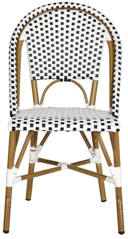 Safavieh Salcha Indoor-Outdoor French Bistro Stacking Side Chair FOX5210E-SET2