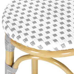 Safavieh Kipnuk Stool Grey/White (Indoor/Outdoor) FOX5211B