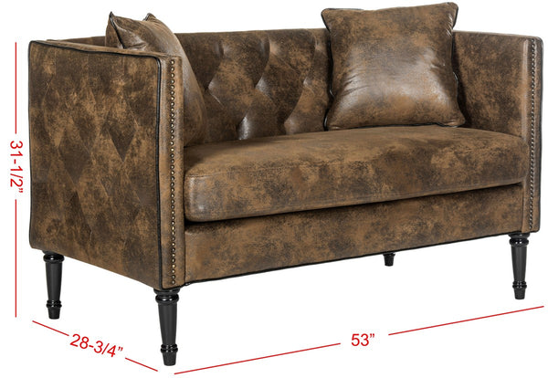 Safavieh Sarah Tufted Settee With Pillows FOX6206F