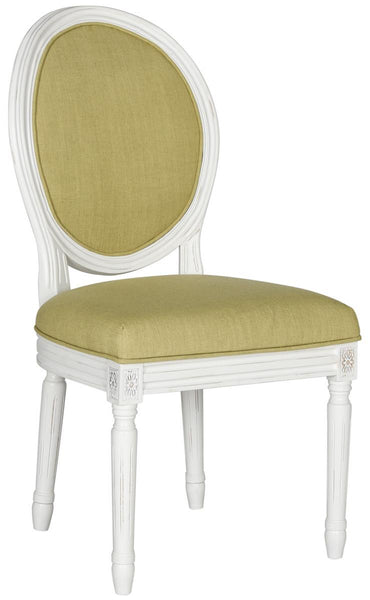 Safavieh Holloway 19''H French Brasserie Linen Oval Side Chair FOX6228B-SET2