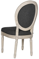 Safavieh Holloway 19''H French Brasserie Linen Oval Side Chair FOX6228K-SET2
