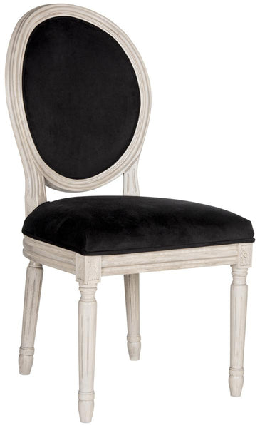 Safavieh Holloway 19''H French Brasserie Velvet Oval Side Chair FOX6228L-SET2