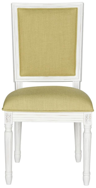 Safavieh Buchanan 19''H French Brasserie  Linen Rect Side Chair FOX6229B-SET2