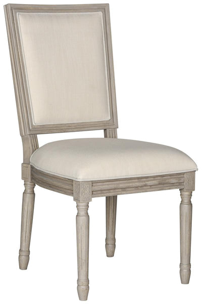 Safavieh Buchanan 19''H French Brasserie Linen Rect Side Chair FOX6229H-SET2