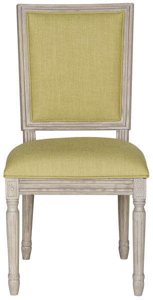 Safavieh Buchanan 19''H French Brasserie Linen Rect Side Chair FOX6229J-SET2