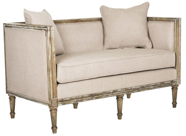 Safavieh Leandra Linen French Country Settee FOX6237B