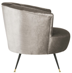 Safavieh Arlette Velvet Retro Mid Century Accent Chair FOX6257A