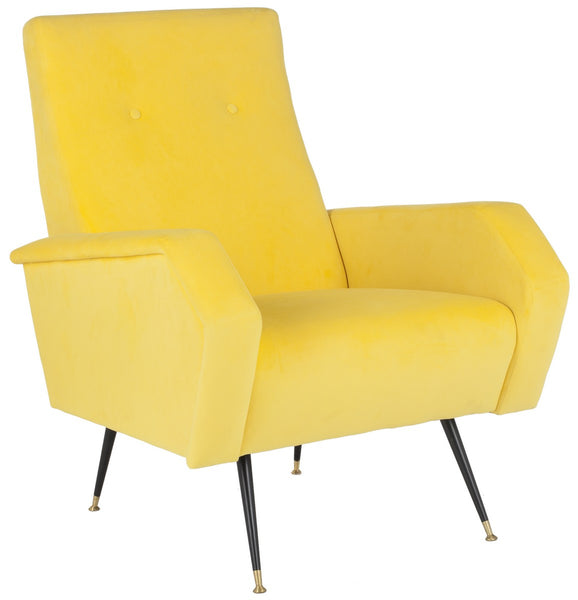 Safavieh Aida Velvet Retro Mid Century Accent Chair FOX6258A