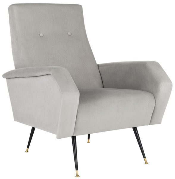 Safavieh Aida Velvet Retro Mid Century Accent Chair FOX6258B