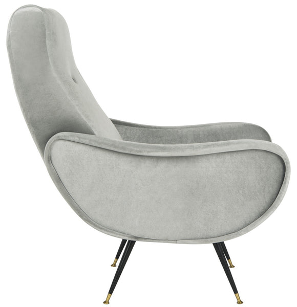 Safavieh Elicia Velvet Retro Mid Century Accent Chair FOX6260A
