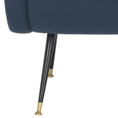Safavieh Elicia Velvet Retro Mid Century Accent Chair FOX6260C