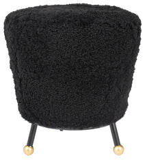 Safavieh Oriana Retro Sheepskin Ottoman FOX6261B