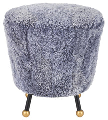 Safavieh Oriana Retro Sheepskin Ottoman FOX6261C