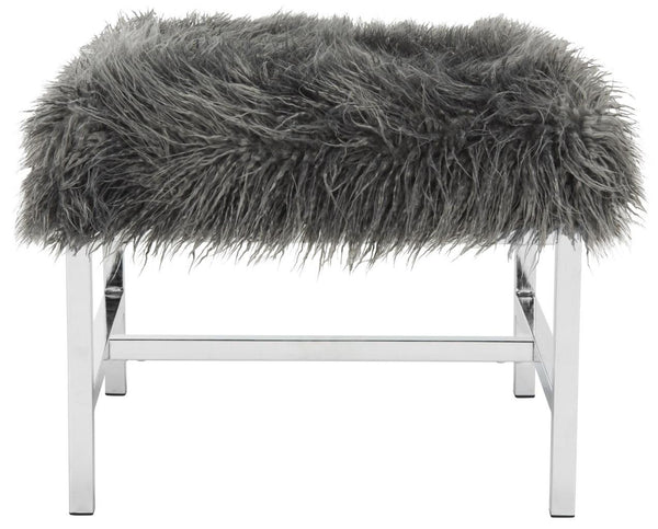 Safavieh Horace Faux Sheepskin Square Bench FOX6266A