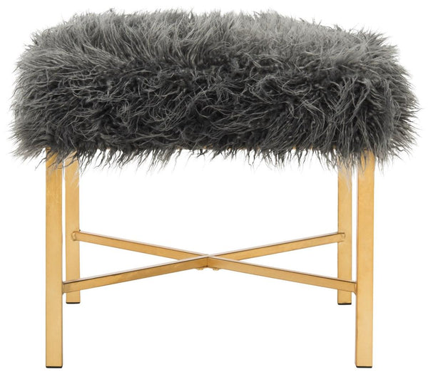 Safavieh Horace Faux Sheepskin X- Square Bench FOX6267A