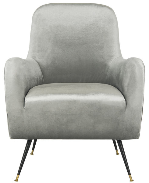 Safavieh Noelle Velvet Retro Mid Century Accent Chair FOX6269A