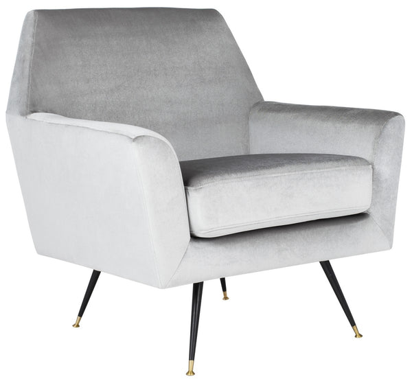 Safavieh Nynette Velvet Retro Mid Century Accent Chair FOX6270B
