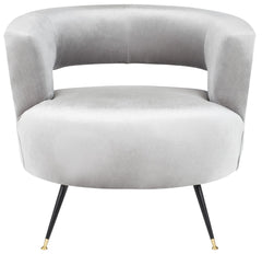 Safavieh Manet Velvet Retro Mid Century Accent Chair FOX6272B